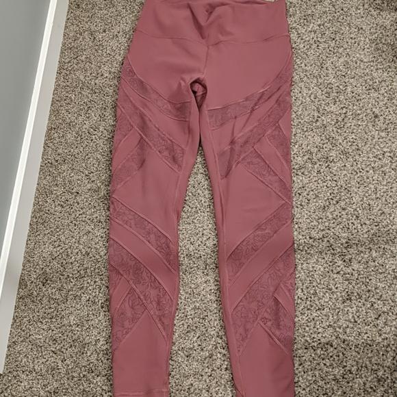 Lululemon mid-rise leggings with lace design